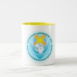 Harmony Workshop Logo Two-Tone Coffee Mug