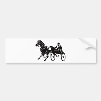 harness cart horse racing sulkies bumper sticker
