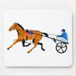 harness cart horse racing sulkies mouse pad
