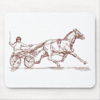 harness cart horse racing sulkies mousepads