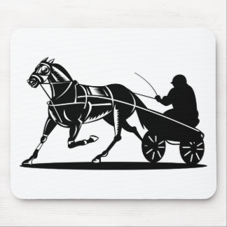 harness cart horse racing sulkies mouse pads