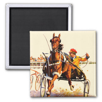 Harness Race 2 Inch Square Magnet