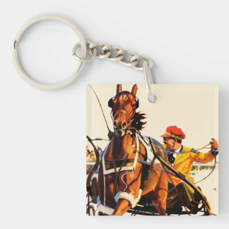 Harness Race Double-Sided Square Acrylic Keychain
