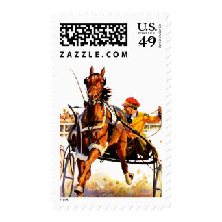 Harness Race Postage Stamps