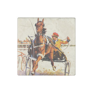 Harness Race Stone Magnet