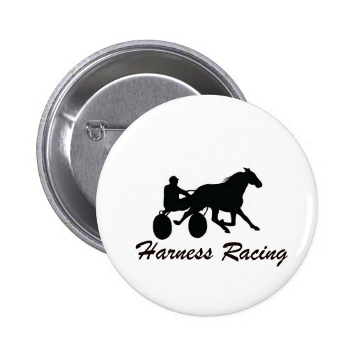 Harness Racing 2 Inch Round Button