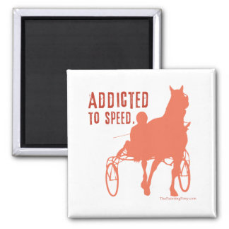 Harness Racing 2 Inch Square Magnet
