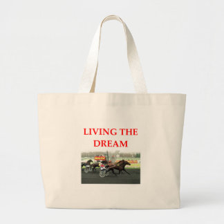 harness racing canvas bag