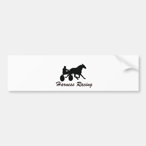 Harness Racing Bumper Sticker
