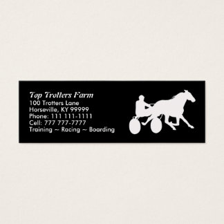 Harness Racing Business Card Template