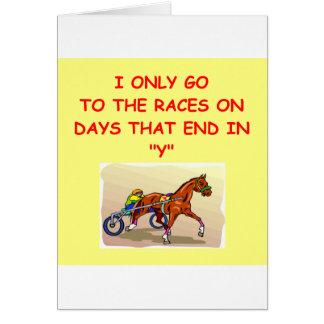 harness racing card