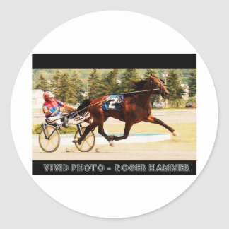 Harness Racing Classic Round Sticker