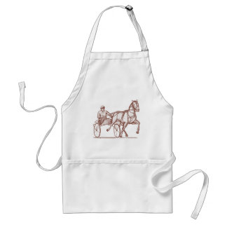 Harness racing engraving apron