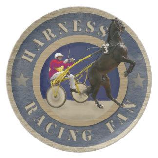 Harness Racing Fan Party Plate