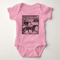 Harness Racing Grunge Baby Bodysuit