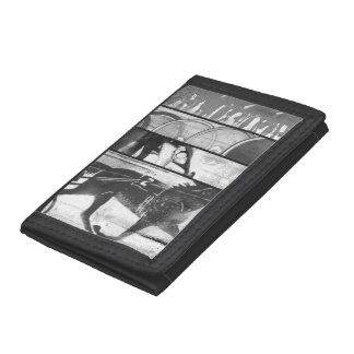 Harness Racing Grunge Trifold Wallets