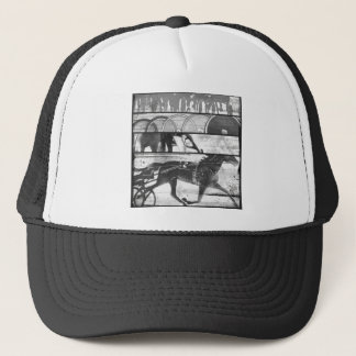 Harness Racing Grunge Trucker Hat