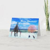 Harness Racing Horse Standardbred Christmas Card