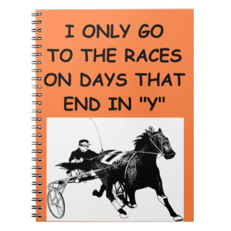 harness racing note book