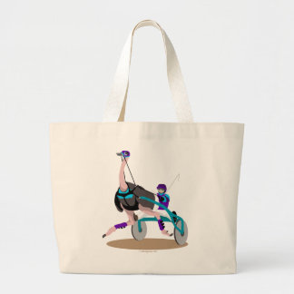 Harness Racing Ostrich Large Tote Bag