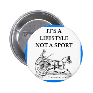 harness racing pinback button