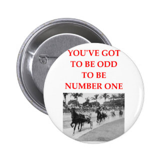 harness racing pinback button