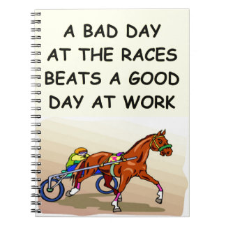 harness racing spiral note book