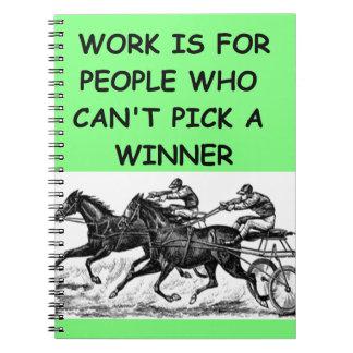 harness racing spiral notebook