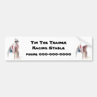 Harness Racing Standardbred Design. Bumper Sticker