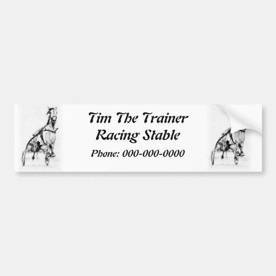 Harness Racing Standardbred Logo Bumper Sticker