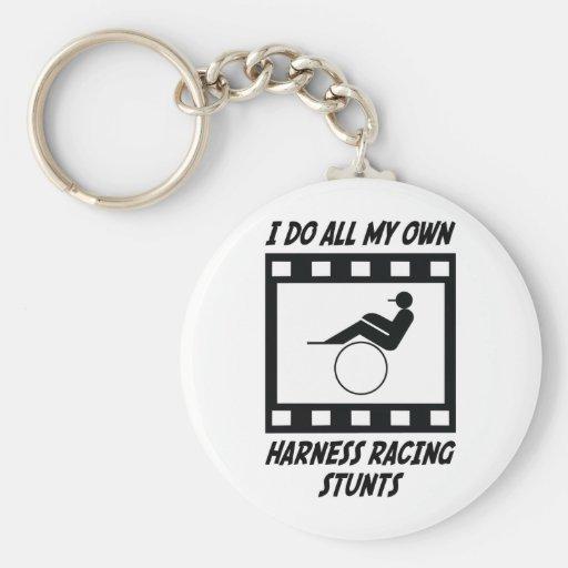 Harness Racing Stunts Basic Round Button Keychain