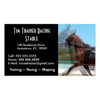 Harness Racing Trainer Business Cards