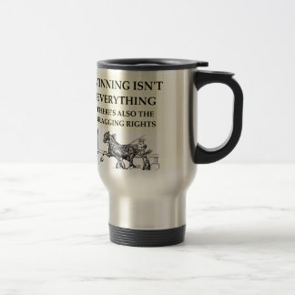 harness racing travel mug