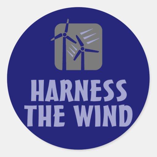 Harness the Wind (3) Classic Round Sticker