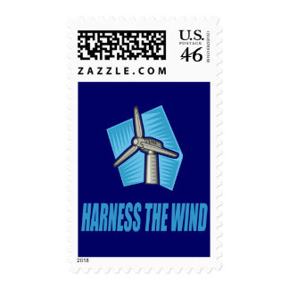 Harness the Wind Postage Stamp