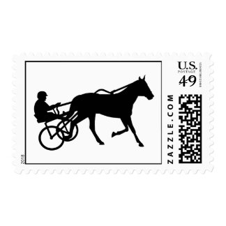 Harness trotting race stamp