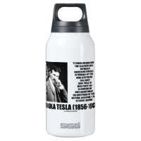 Harnessing A Waterfall Sun's Energy Tesla Quote 10 Oz Insulated SIGG Thermos Water Bottle