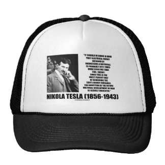Harnessing A Waterfall Sun's Energy Tesla Quote Trucker Hats