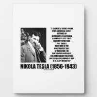 Harnessing A Waterfall Sun's Energy Tesla Quote Plaques