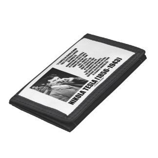 Harnessing A Waterfall Sun's Energy Tesla Quote Trifold Wallets