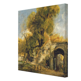 Harnham Gate, Salisbury, c.1820-21 (oil on canvas) Canvas Print
