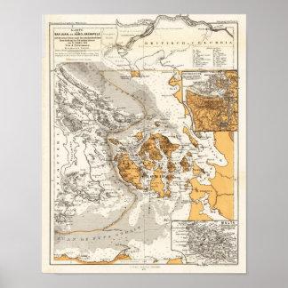 Haro Straiit Vancouver Island Petermann 1873 Poster