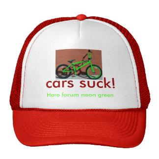 HaroForumIntroLiteNeon, cars suck!, Haro forum ... Trucker Hat