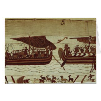 Harold crosses the Channel with sails full of Card