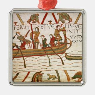 Harold cruza el canal al territorio de ornamento de navidad