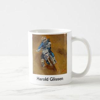 Harold Glissen Motorcross Taza Básica Blanca