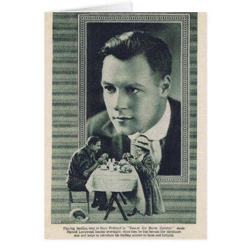 Harold Lockwood Mary Pickford 1917 Tarjeta De Felicitación