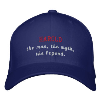 Harold the legend embroidered baseball cap