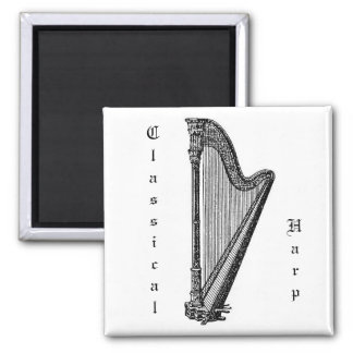 Harp 2 Inch Square Magnet