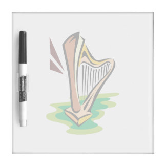 harp abstract with green.png dry erase whiteboards